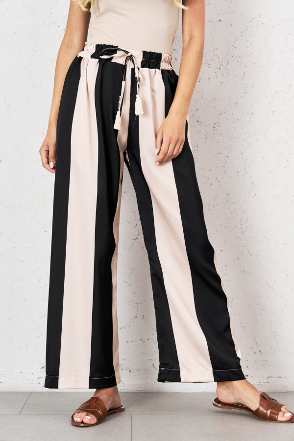 Spodnie w pionowe pasy PALAZZO 2