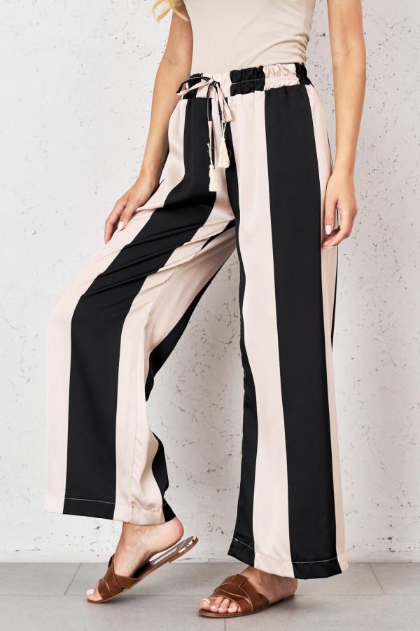 Spodnie w pionowe pasy PALAZZO 3