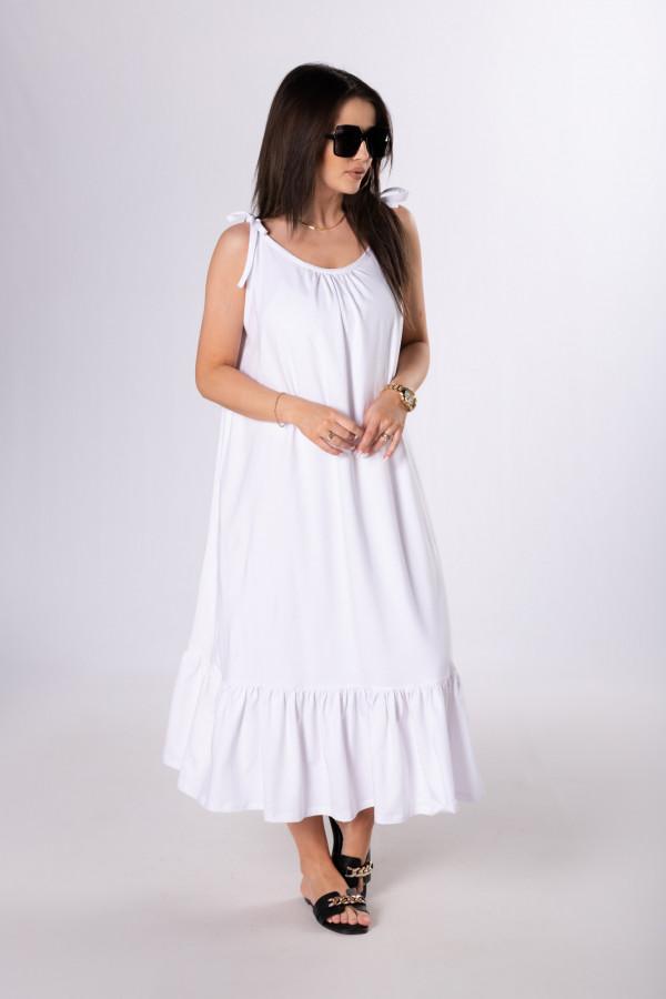 Sukienka maxi z wiązanymi ramiączkami BALI