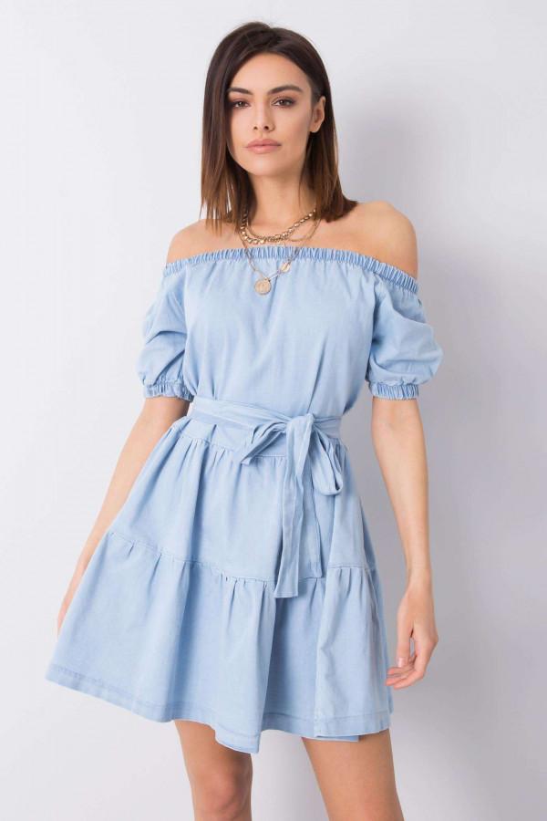 Jeansowa sukienka hiszpanka NIKOLINA
