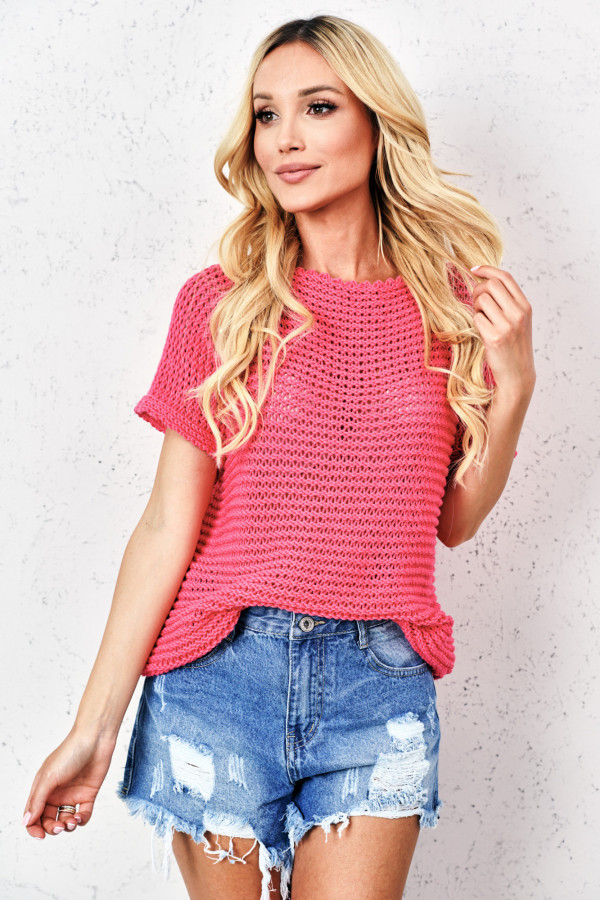 Sweter ażurowy KIASMOS