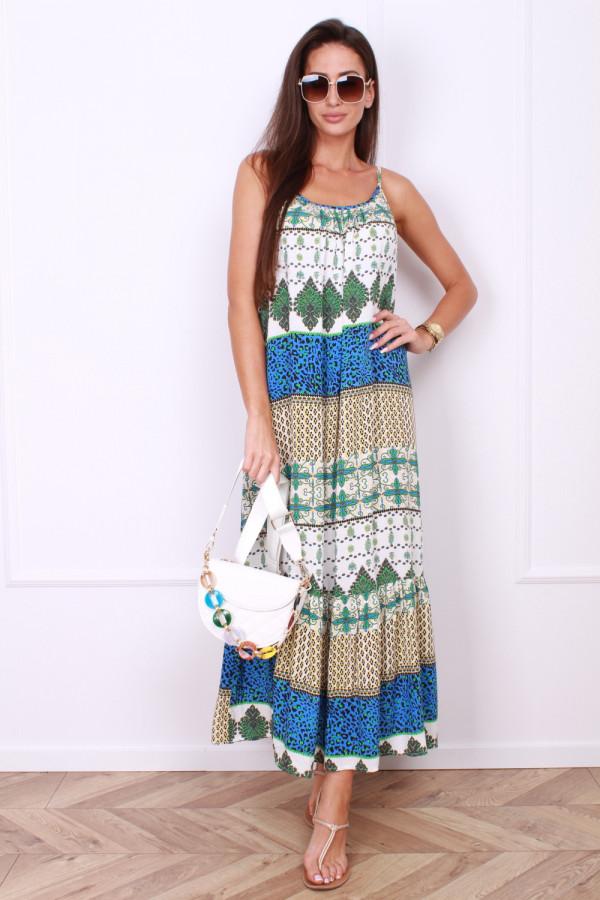 Sukienka maxi we wzory AZTEC