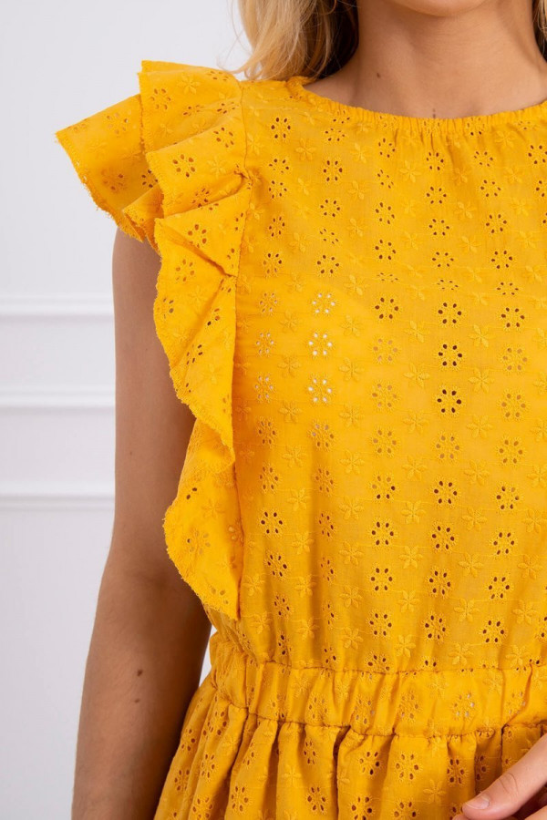 Sukienka haft z falbanami SALMA 2
