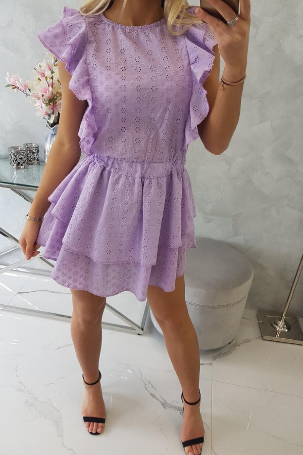 Sukienka haft z falbanami SALMA 3