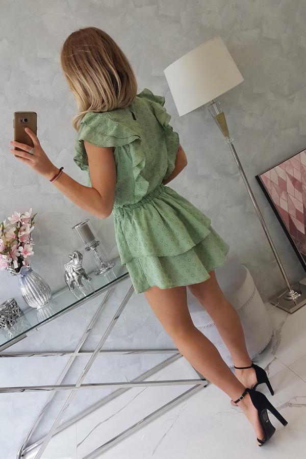 Sukienka haft z falbanami SALMA 4