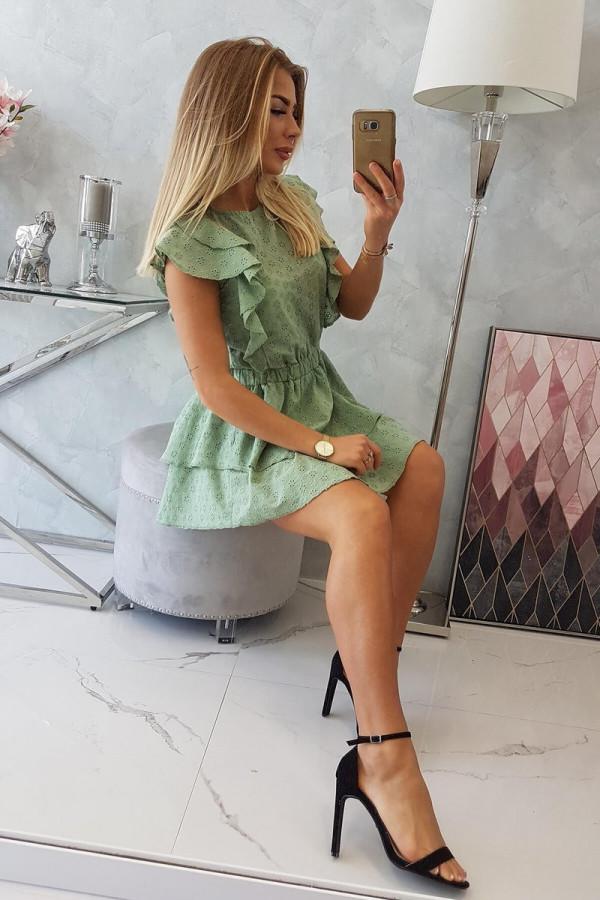 Sukienka haft z falbanami SALMA 5