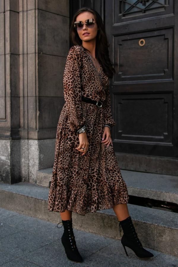 Sukienka midi we wzory PETRA