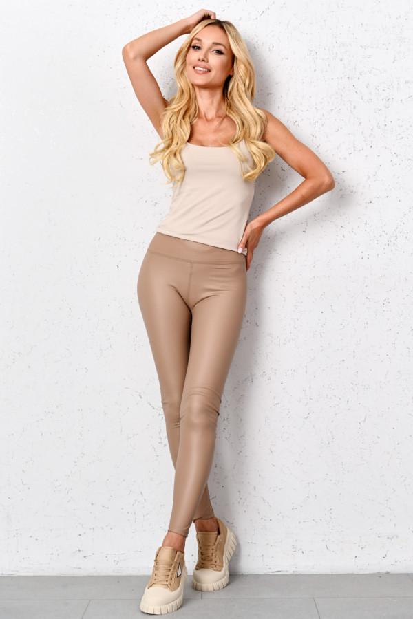 Spodnie legginsy z eko skóry MYIA