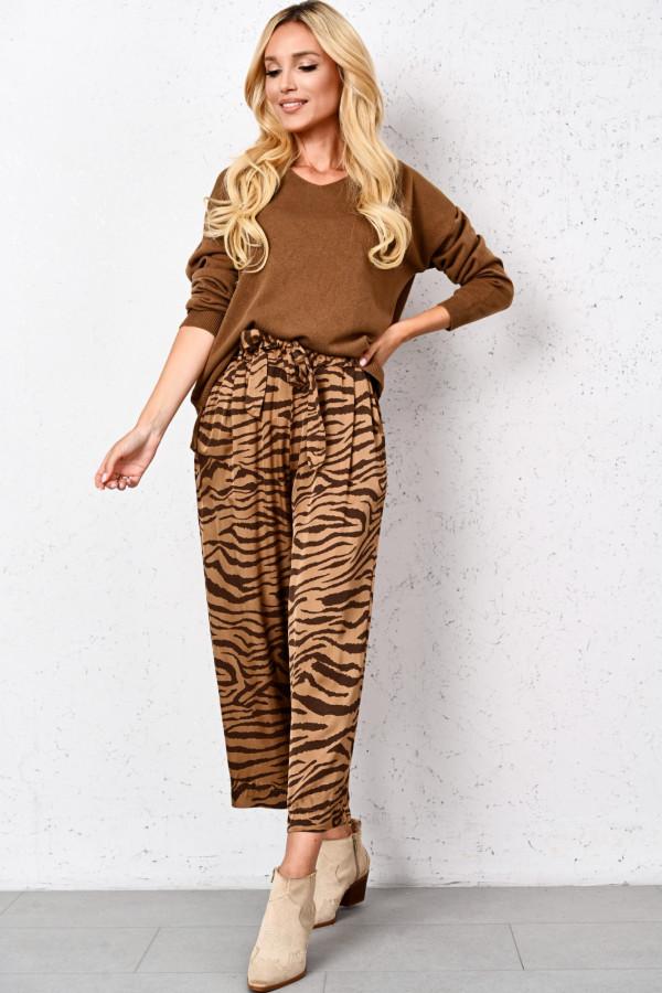Spodnie z szerokimi nogawkami TIGER