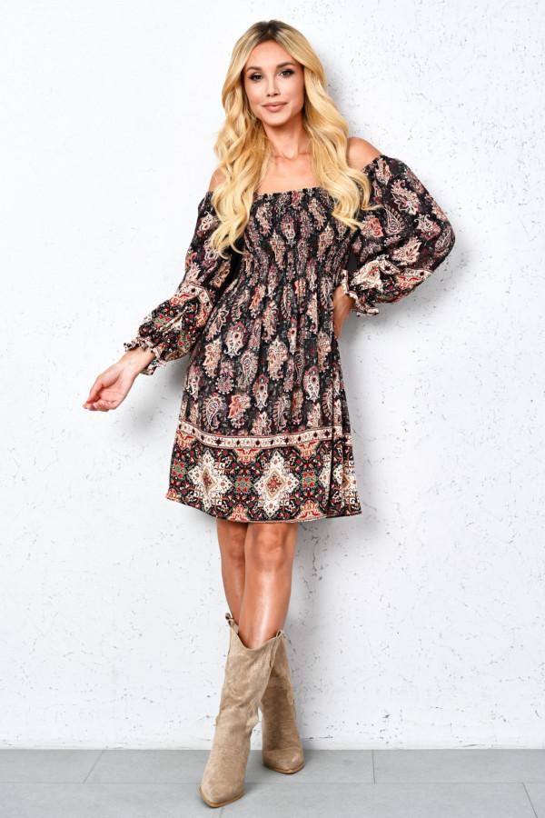 Sukienka hiszpanka we wzory LAURELLA