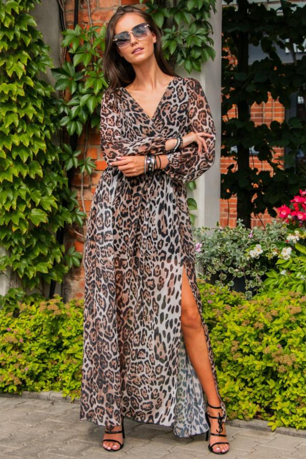 Sukienka maxi w panterkę PALOMA