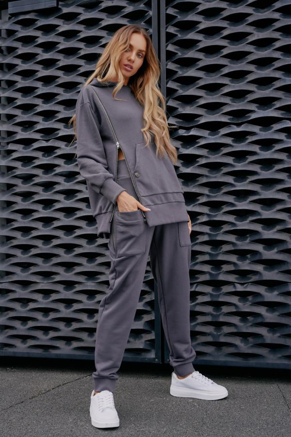 Spodnie dresowe z kieszeniami MIAMI grafit