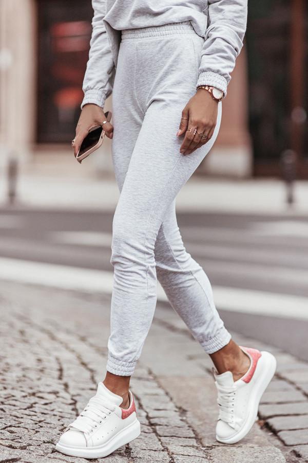 Komplet dresowy bluza z kapturem i spodnie LEXA szary 3