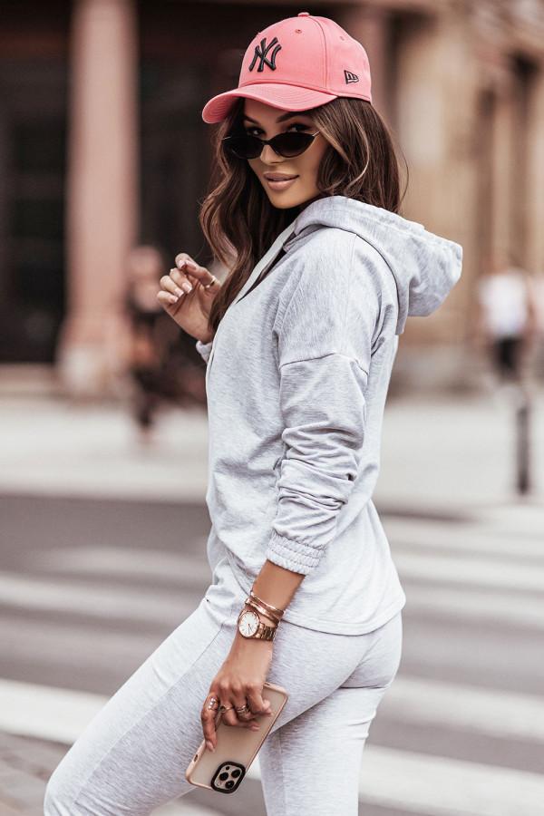 Komplet dresowy bluza z kapturem i spodnie LEXA szary 2