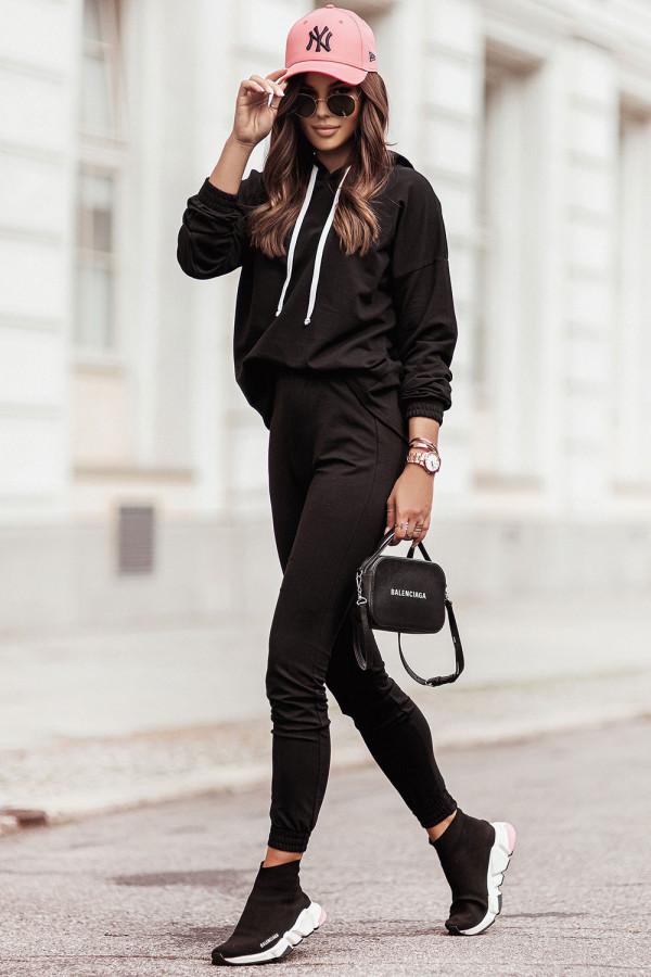Komplet dresowy bluza z kapturem i spodnie LEXA czerń