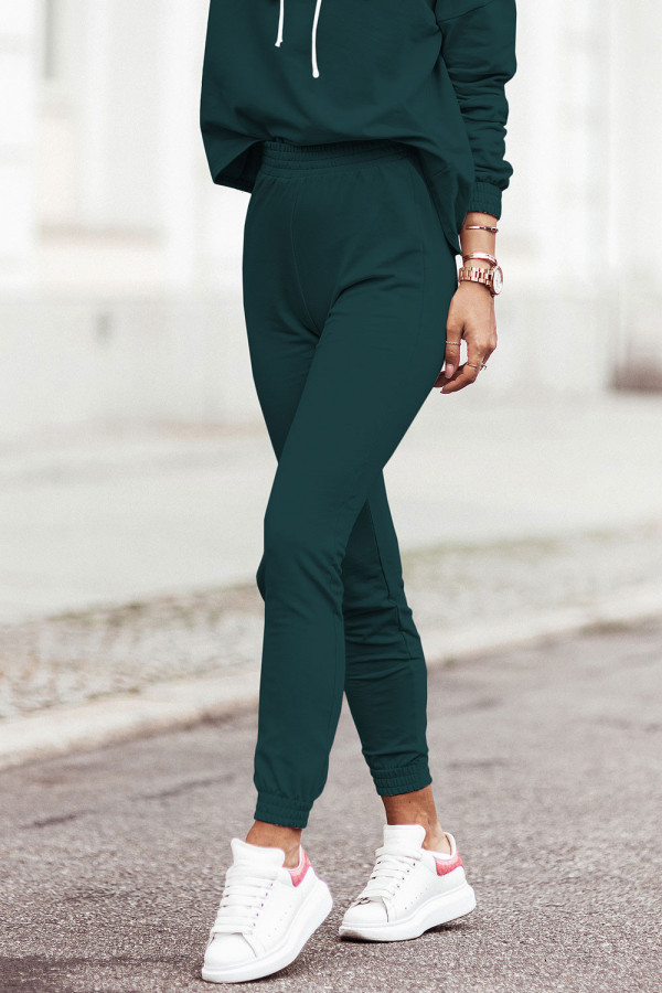 Komplet dresowy bluza z kapturem i spodnie LEXA butelkowa zieleń 2