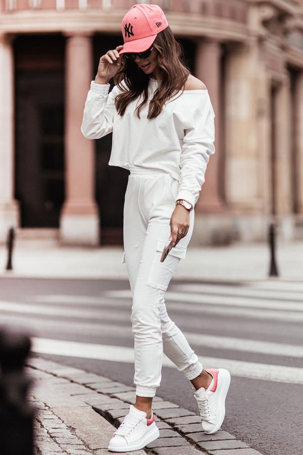 Komplet dresowy bluza i spodnie z kieszeniami KALA ecru