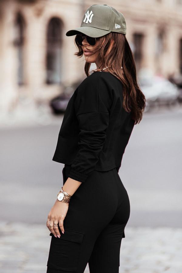 Komplet dresowy bluza i spodnie z kieszeniami KALA czerń