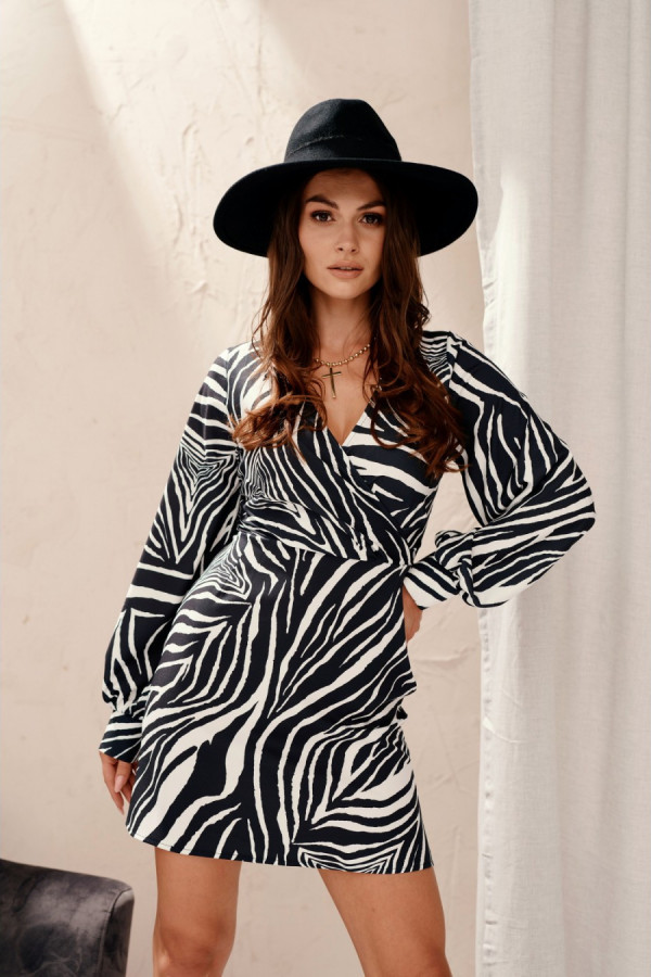 Sukienka mini zebra WILD