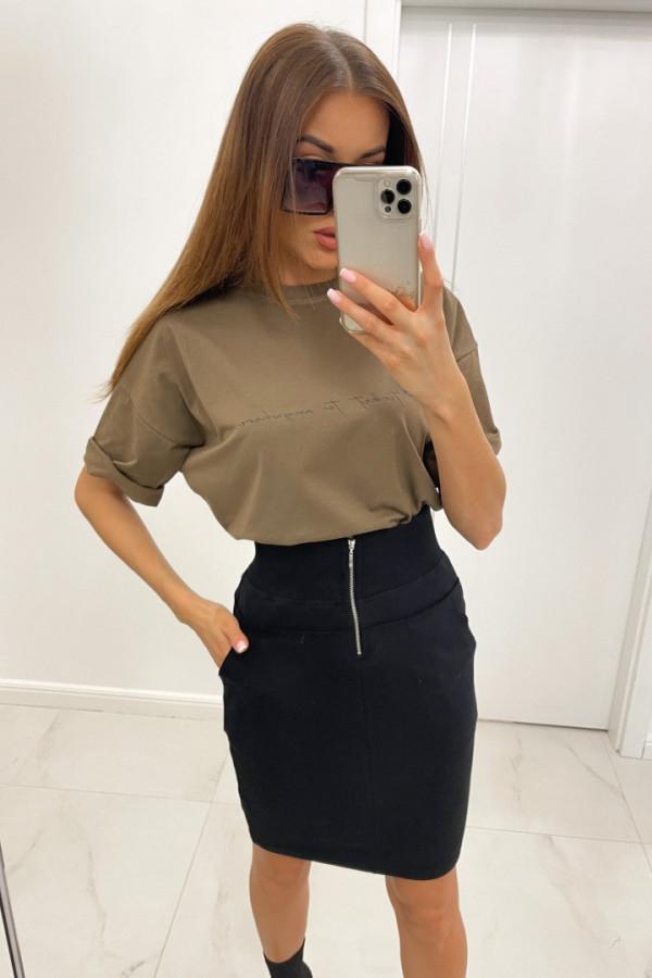 Spódnica mini z zamkiem GINA czerń