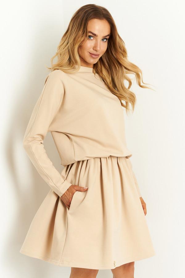 Sukienka bawełniana z długim rękawem CLASSY