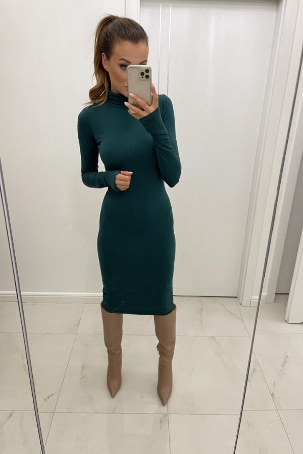 Sukienka dopasowana z golfem ALESSIA zieleń