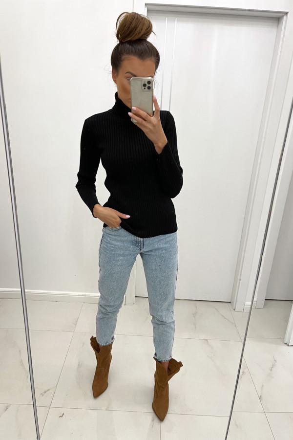 Sweter z golfem CORNELIA czerń