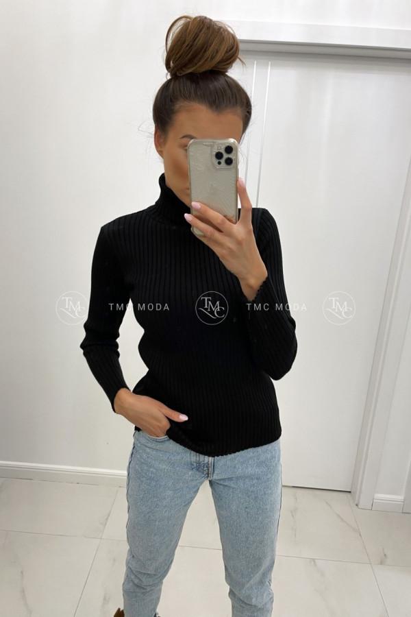 Sweter z golfem CORNELIA czerń 1