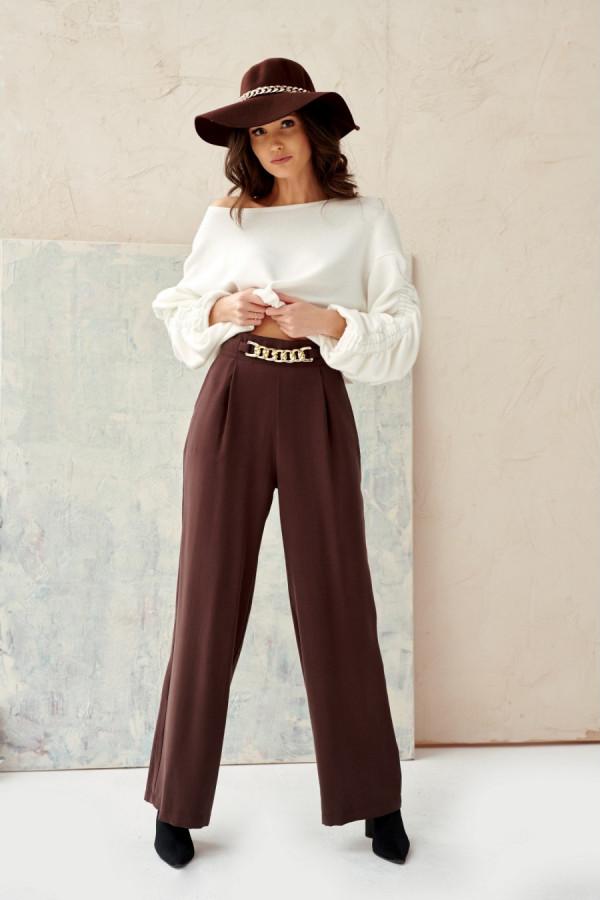 Spodnie z wysokim stanem i łańcuchem CHAIN 1