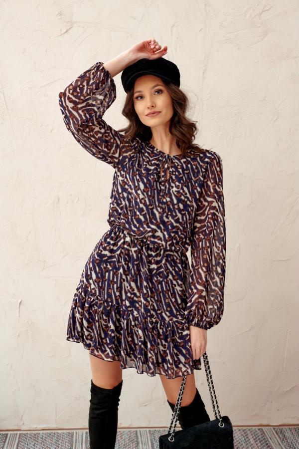 Sukienka z troczkiem we wzory LUSI