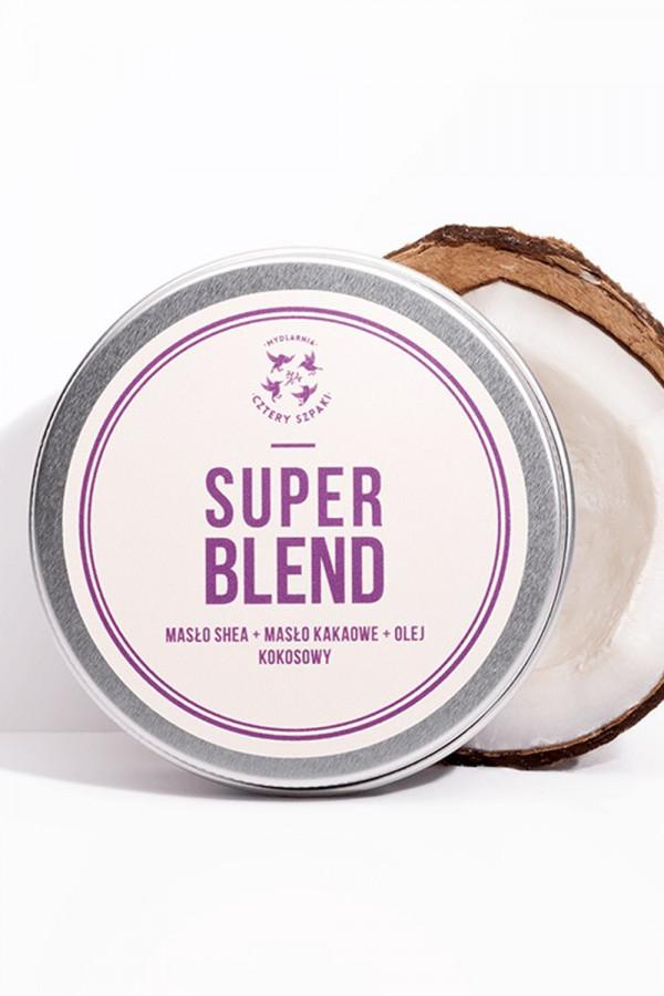SUPER BLEND Masło do ciała MASŁO SHEA + MASŁO KAKAOWE + OLEJ KOKOSOWY